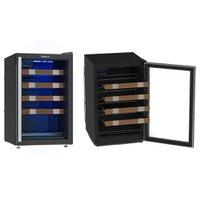 Adega 24 Garrafas Venax PiuBella, 1 Porta, Iluminação LED, Preta - APC100