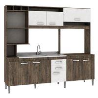 Cozinha Compacta sem Tampo Fellicci Helen, 8 Portas, 2 Gavetas - CC60