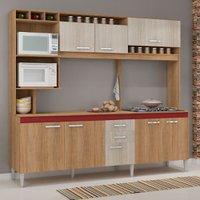 Cozinha Compacta com Tampo Fellicci Helen, 8 Portas, 2 Gavetas - CC60T
