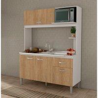 Cozinha Compacta sem Tampo Fellicci Nina, 4 Portas, 1 Gaveta - CC13