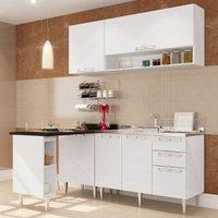 Cozinha Compacta Art in Móveis Mia Coccina 09, 5 Portas, 3 Gavetas