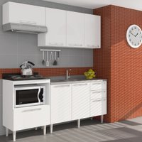 Cozinha Compacta Art in Móveis Mia Coccina 10, 7 Portas, 3 Gavetas