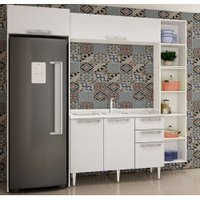 Cozinha Compacta Art in Móveis Mia Coccina 11, 4 Portas, 3 Gavetas
