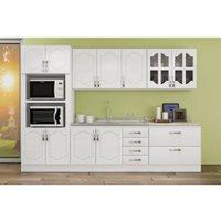 Cozinha Compacta Canção Cristal, 11 Portas, 6 Gavetas - KIT016