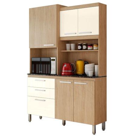 Cozinha Compacta Gralar Spazio, 6 Portas, 2 Gavetas - 206