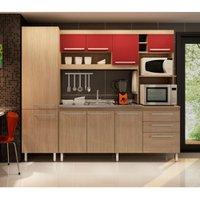 Cozinha Compacta Gralar Amanda, 10 Portas, 2 Gavetas - 247