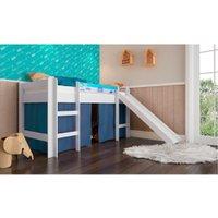 Cama de Solteiro Infantil Completa Móveis, com Escorregador - BB880