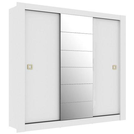 Guarda-Roupa / Roupeiro Madesa Ellos, 3 Portas de Correr, com Espelho
