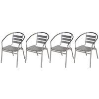 Kit 4 Cadeiras Mor Alumínio - 9017