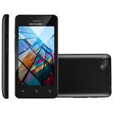 Smartphone Multilaser MS40S Preto, Android 6.0, Dual Câmera, 8GB, Dual Chip