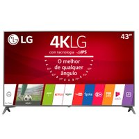 Ultra HD TV LED LG 43'' Ultra Slim, 4K, DTV, 4 HDMI, 2 USB - 43UJ6565