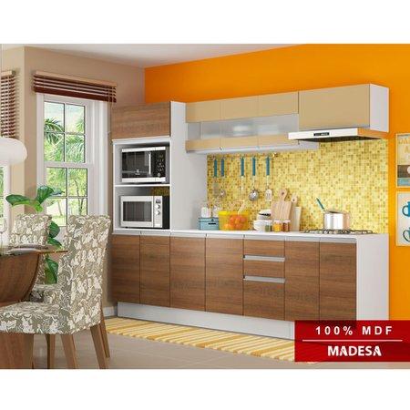 Cozinha Compacta Madesa Glamy Ágata, 12 Portas, 2 Gavetas