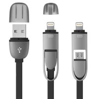 Cabo 2x1 Multilaser, com Adaptador para Iphone - WI333