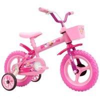 Bicicleta Track Bikes Arco-Íris Aro 12 Rosa