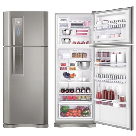 Refrigerador / Geladeira Electrolux, Inox, 2 Portas, Frost Free, 459L - DF54X