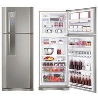 Refrigerador/ Geladeira Electrolux, Inox, 2 Portas, Frost Free, 427L - DF53X