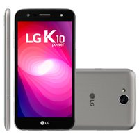 Smartphone LG K10 Power, Dual Chip, TV, 4G, 32GB, 13MP, Titânio - M320TV
