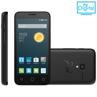 Smartphone Alcatel Pixi 3, 4.5'', 3G, 4GB, 8MP, Dual Chip, Preto - OT-4028E