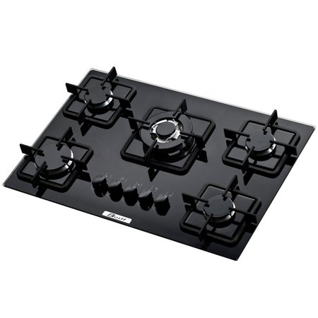 Cooktop 5 Bocas Gas Built Preto TC