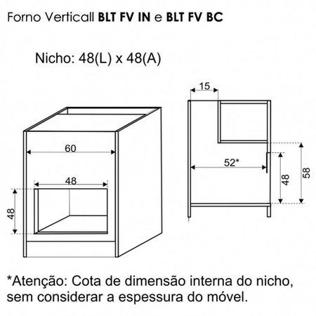 Forno Eletrico Embutir Built BLT FV BC