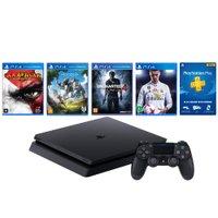 Playstation 4 Oficial Sony Brasil,500GB,1 Controle,3 Jogos Físicos + FIFA 18