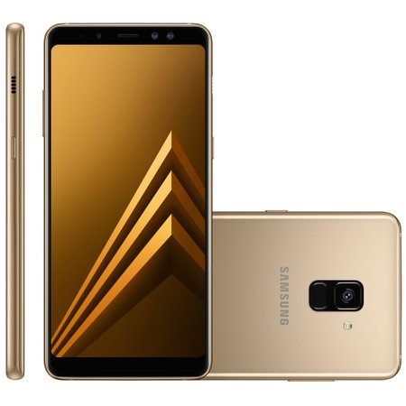 Smartphone Samsung Galaxy A8 Plus, Dual Chip, 64GB, 16MP, 4G, Dourado – A730F