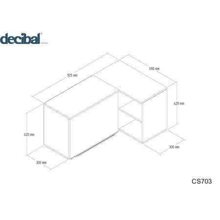 Aéreo de Canto Reto Decibal Slim, 1 Porta - CS703