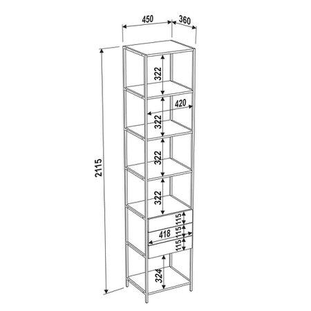 Estante Artesano Steel Quadra, 3 gavetas - 27807