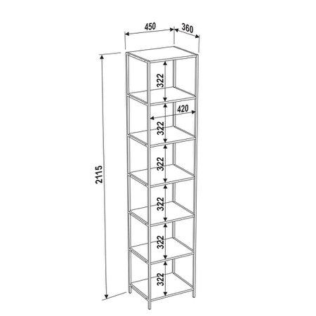 Estante Artesano Steel Quadra, 7 Prateleiras - 27808