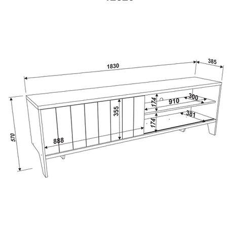Rack Artesano Lift, 1 Porta de Correr - 12520