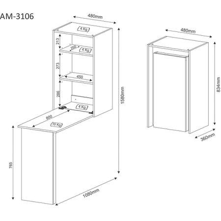 Armario Multiuso Tecno Mobili - AM3106
