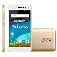 Smartphone Positivo Slim, Dual Chip, 8GB, 8MP, 3G, Dourado - S510