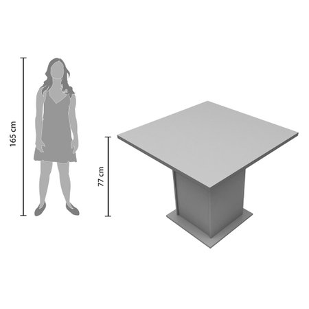 Mesa Quadrada Madesa Anitta 90 cm - 5295