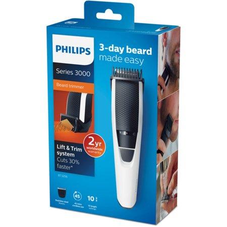 Barbeador/Aparador Philips, 10 Ajustes de Comprimento - BT3206
