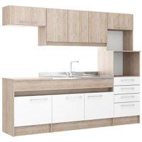 Cozinha Compacta Decibal Open, 8 Portas, 4 Gavetas - CO770