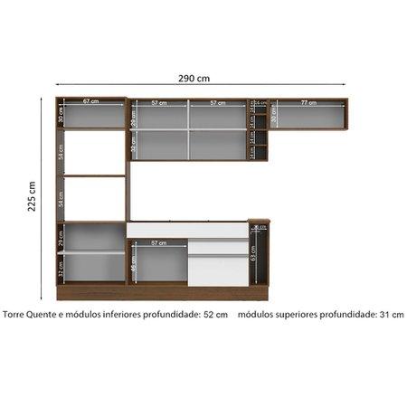 Cozinha Compacta Madesa Glamy Vicenza, 7 Portas, 2 Gavetas