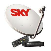 Kit Antena 60 cm + Receptor Sky Pre Pago Flex HD