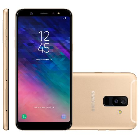 Smartphone Samsung Galaxy A6 Plus, Dual Chip, 64GB, 4G, Dourado – A605GN