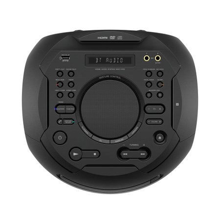 Mini System Sony Torre, Bluetooth, Karaoke, Controle por Gestos - MHC-V41D
