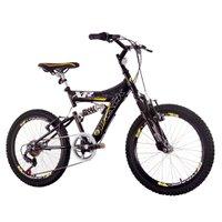 Bicicleta Track Bikes XR20 PA, Aro 20, Suspensao Dupla 6V, Quadro em Aco Carbono