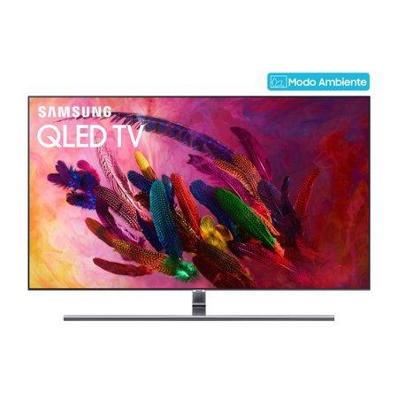 TV QLED 75 Samsung, Modo Ambiente, 4K, 4 HDMI, 3 USB, com Wi-Fi - QN75Q7FN