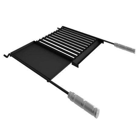 Grelha Qualinox Steel Flon, com Chapa Auxiliar - 50102