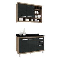 Cozinha Compacta Hecol New Vitoria, 4 Portas, 3 Gavetas - NV-2766
