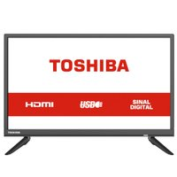 TV LED HD Toshiba 24'', 2 HDMI, 2 USB - 24L1850