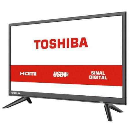 TV LED HD Toshiba 24'', 2 HDMI, 2 USB - 24L1850