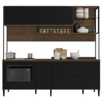 Cozinha Compacta com Tampo Kappesberg Pop, 5 Portas, 3 Gavetas - CBPO020