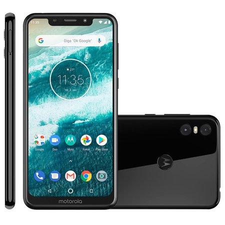 Smartphone Motorola One, 64GB, Dual Chip, 4G, Preto - XT1941