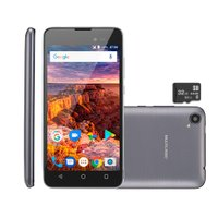 Smartphone Multilaser MS50L 8GB + Cartao SD 32GB, Cinza - P9090