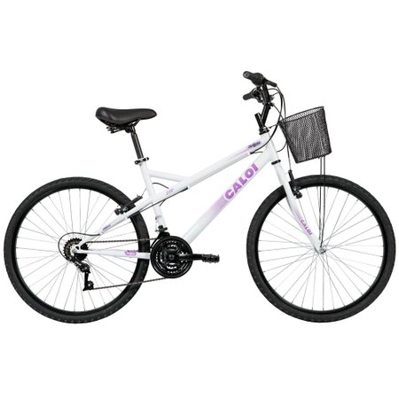 Bicicleta Caloi Ventura, Aro 26, 21 Marchas, Freios V-Brake, Quadro 18, Branca