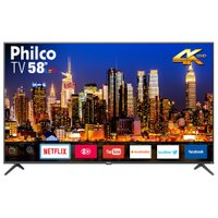 Smart TV Ultra HD LED 58 Philco, 4K, 3 HDMI, 2 USB, com Wi-Fi ? PTV58F60SN